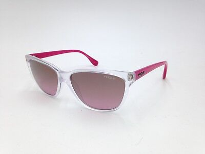 $225 VOGUE WOMENS PINK SUNGLASSES EYE GLASSES BROWN GRADIENT UV LENS VO 2729-S