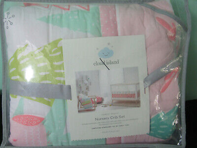 Cloud Island Forest Frolic Nursery Crib Bedding Set 4 pc baby girl new #28696