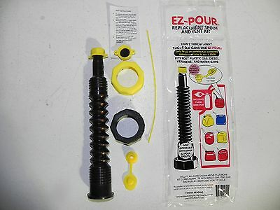 Gas Can Spout Nozzle Hose 1 Kit Blk Works With Gas Diesel Water Kerosene Cans