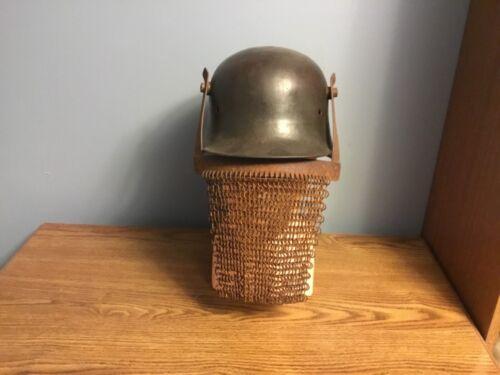 WW1 German Helmet  face chain visor