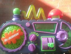 NICKELODEON Time Blaster Alarm Clock Radio Rare Fun Sound Effects BEST CLOCK