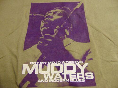 Rock TShirt Authentic MUDDY WATERS & Modern Blues ~ Got My MOJO Working ~ XL NEW