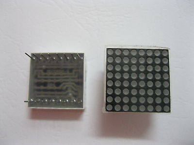 20 Pcs Led Display Dot Matrix Common Anode Red 1.9mm 8x8 20x20mm New