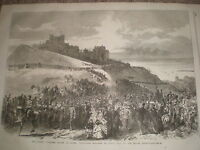Army Volunteers Review Marching Up Castle Hill Dover 1867 Print Rf Y4 -  - ebay.co.uk