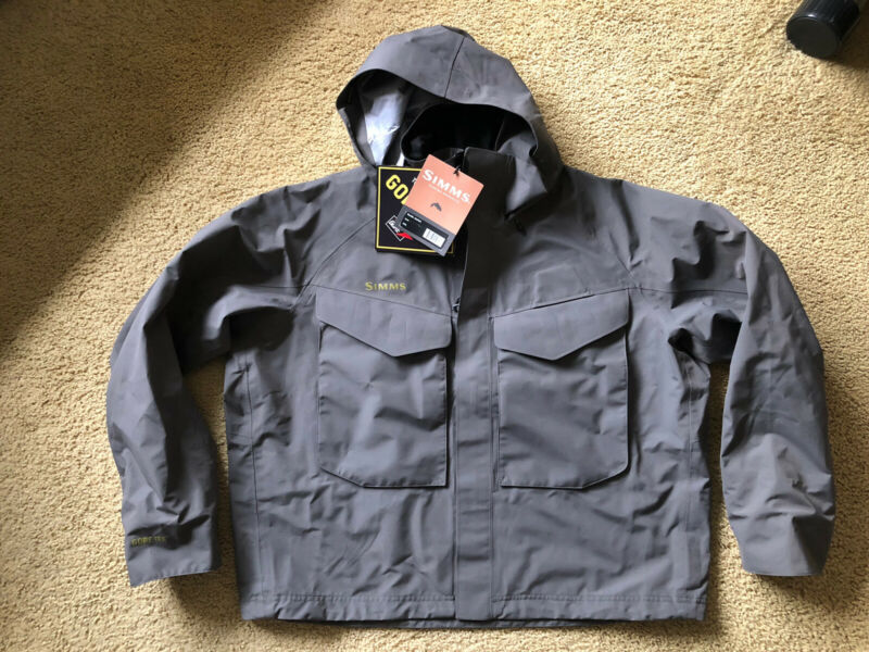 """Simms Guide Jacket - XXL - Brand New with Tags!  - Gore-Tex - """"Iron"""" Color"""