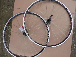 700c Mach1 Rim Road Wheelset BLACK Shimano 7/8/9 Speed Hub Wheels Sports Bike