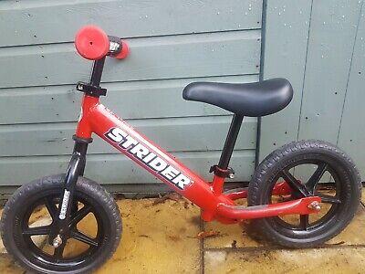Strider 12 Sport Balance Bike Red Plus Additional XL Seat and footbrake