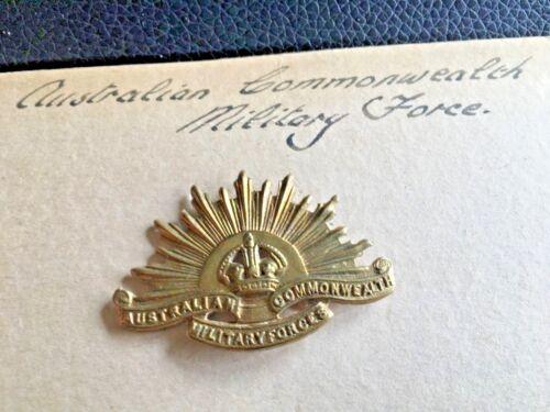 👍 1900s ORIGINAL AUSTRALIAN AUSTRALIA COMMONWEALTH MILITARY FORCE RANK BADGE