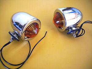 CUSTOM BULLET  LIGHTS Dual Filament  INDICATORS / PARKER  HOT ROD RAT ROD