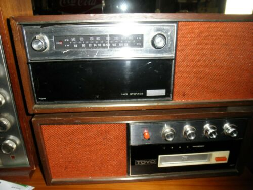 Vintage Rare Toyo Japan AM/FM 8 Track Stereo Tabletop System