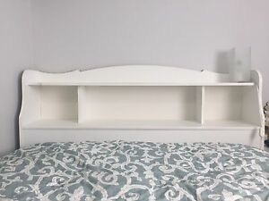 Double bed, bookcase headboard & storage drawers