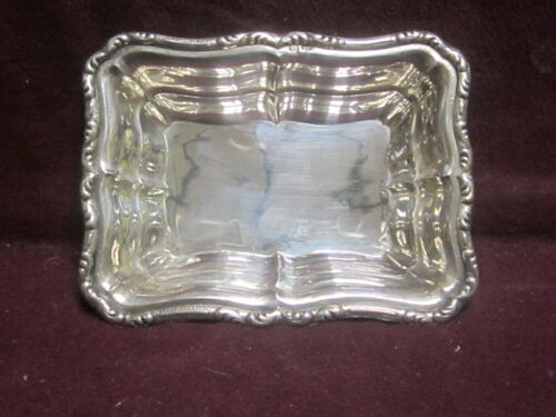 "800 Silver German nut dish 4 1/2"" x 3 3/8"" 40g  no monogram"