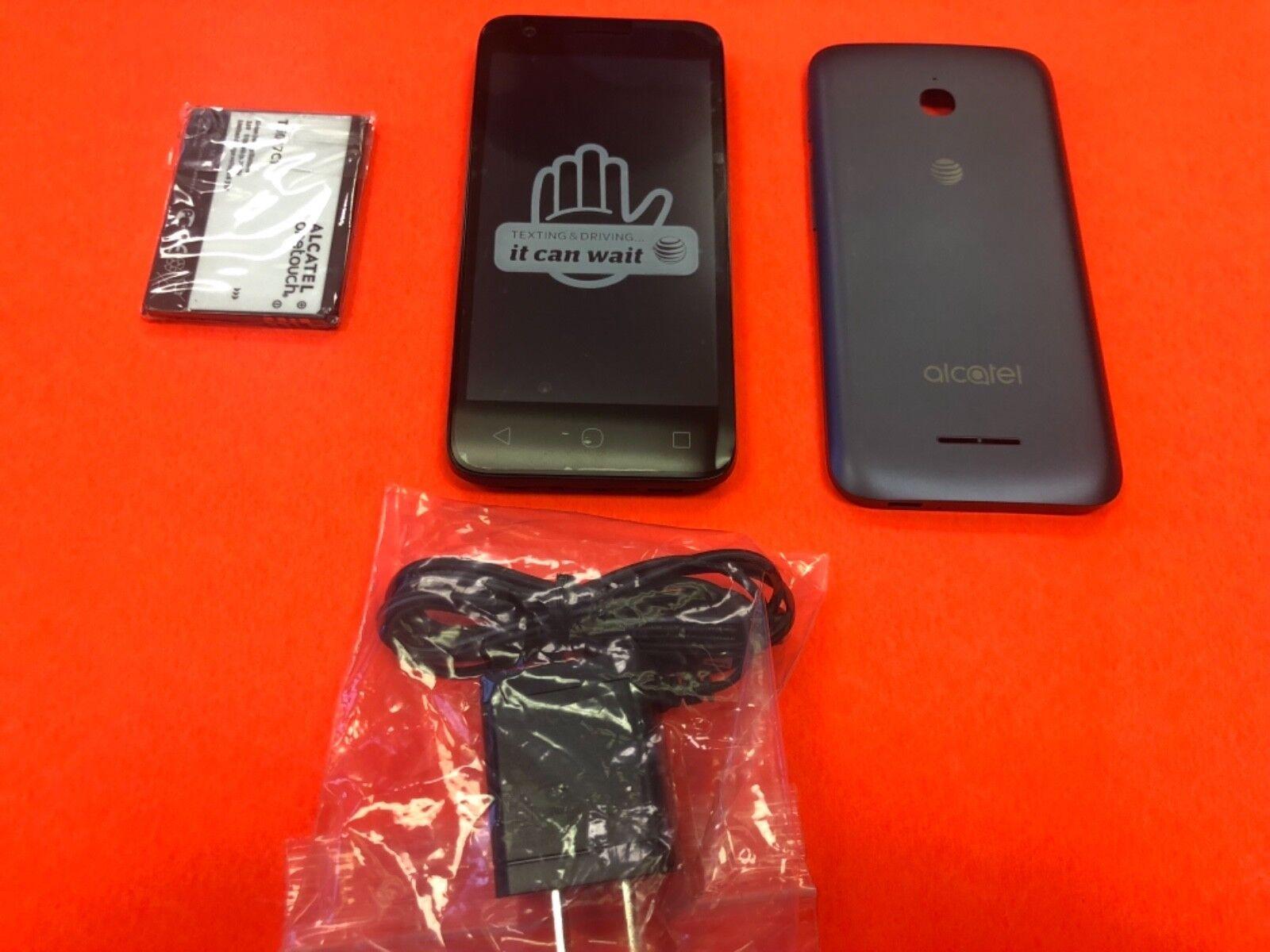 New Alcatel Ideal OT-4060A At&t Unlocked Blue 4G LTE 8GB 4.5