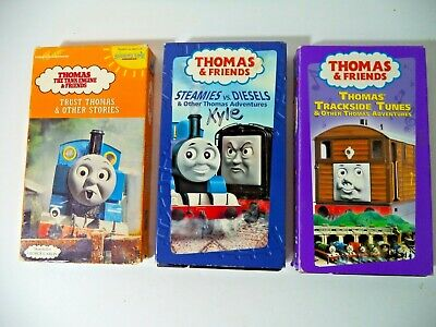 Lot of 3 Thomas Train VHS Tapes TESTED, Steamies Trust & Stories Trackside Tunes