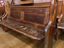 Antique vintage New Zealand Kauri timber church pew / bench seat Marrickville Marrickville Area Preview
