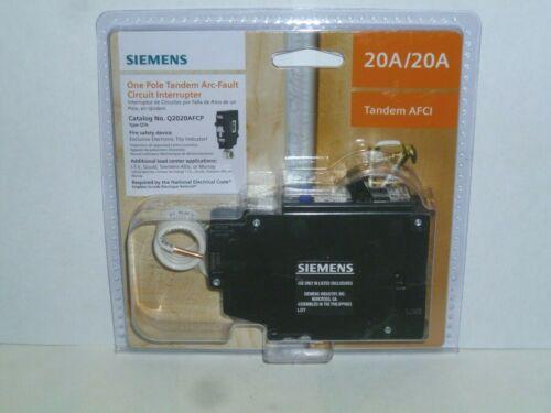 Siemens 20 Amp 120-Volt 1-Pole Tandem CAFCI Type QTA Circuit Breaker Q2020AFCP