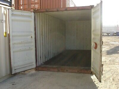 Used 20 Dry Van Steel Storage Container Shipping Cargo Conex Seabox Portland