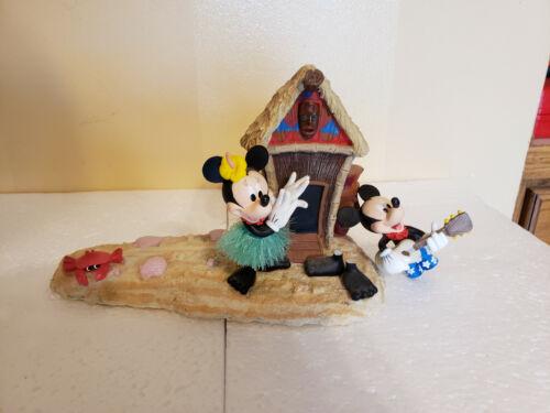 Disney Mickey & Minnie Hawaiian Themed Porcelain Picture Stand Hawaii Hut