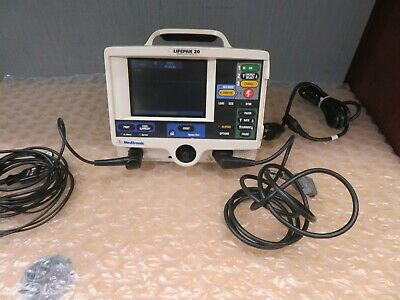 Physio-control Lifepak 20 3-lead Ecg Pacer Patient Monitor New Battery 18231