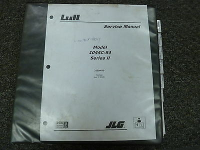 Lull 1044c-54 Telescoping Forklift Lift Truck Shop Service Repair Manual Book