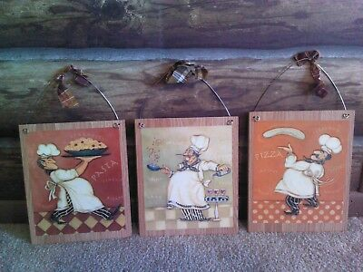 3 STYLES Fat Chef Pictures Bistro Cooking Chefs Wall Hangings Kitchen Home Decor