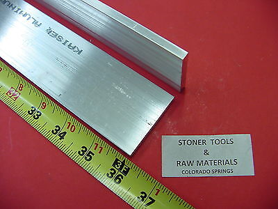 2 Pieces 14 X 2 Aluminum 6061 Flat Bar 36 Long T6511 Plate Mill Stock .25