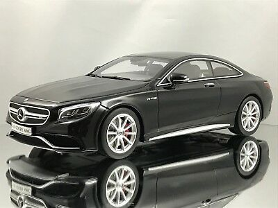 GT Spirit Mercedes Benz S63 AMG S Class Coupe (C217) Black Resin Model Car