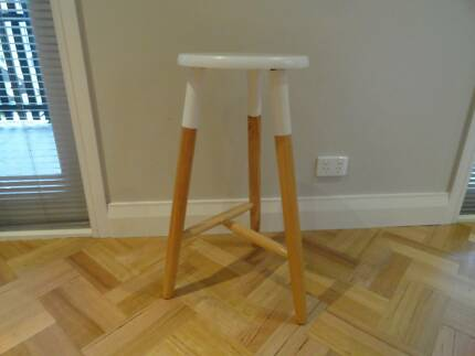 White Top timber bar stool