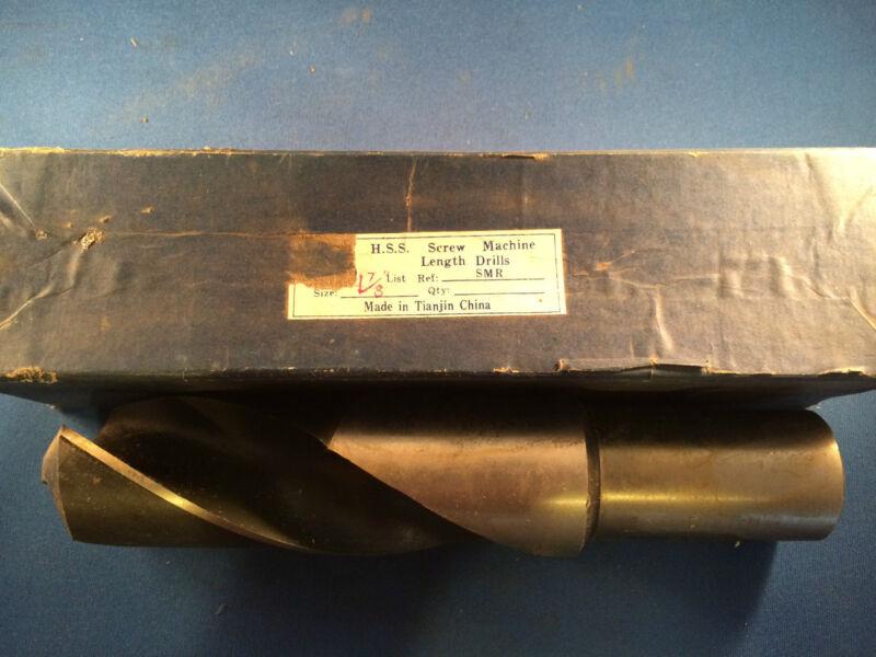 "NIB Imported 1-7/8"" HSS Screw Machine Drill"