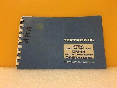 Tektronix 070-2163-00 475a Oscilloscope Dm44 Digital Multimeter Manual