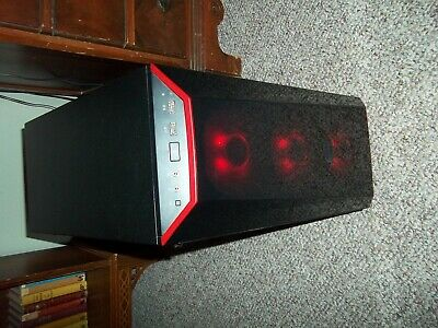 RGB Gaming PC 6 Core Ryzen 5 2600 3.4GHz 256GB SSD 1TB HDD GTX970 4GB Win10