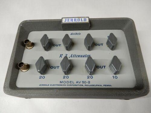 Jerrold Model AV 50-2 0 - 82 dB Attneuator Adjustable in 1 dB Increments Beautif