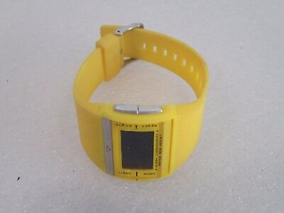 ACTIVA SWISS WATER RESIST YELLOW WATCH GIFT *NEEDS BATTERY*