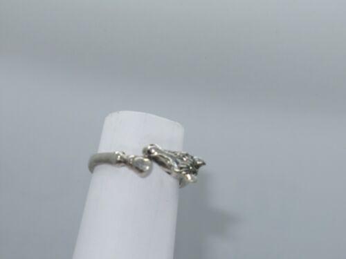 Sterling Silver GIRAFFE Ring Jewelry Size 8 (534G)