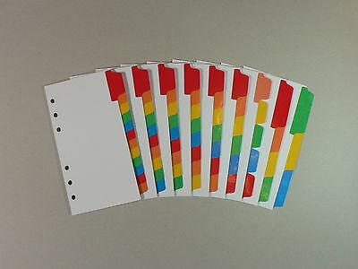 Filofax Personalcompact White Board Divider Insert Multicoloured Mylar Tabs