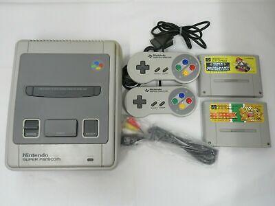 Nintendo Super Famicom console Japan SNES SFC w/ controllers, games, rf, power
