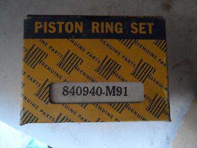 Nos 840940-m91 Massey Harris Ferguson Tractor 4 Cylinder Piston Ring Set