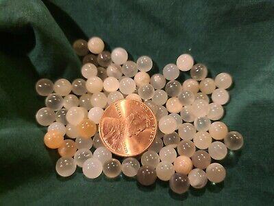 100 pcs 6mm Wholesale Lot Moonstone Gemstone Sphere Crystal Ball Reiki Chakra