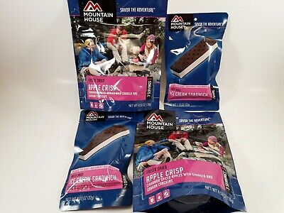 MOUNTAIN HOUSE 4-PACK Freeze Dried DESSERT Food Emergency Survivor Meals - Freeze Dried Meals