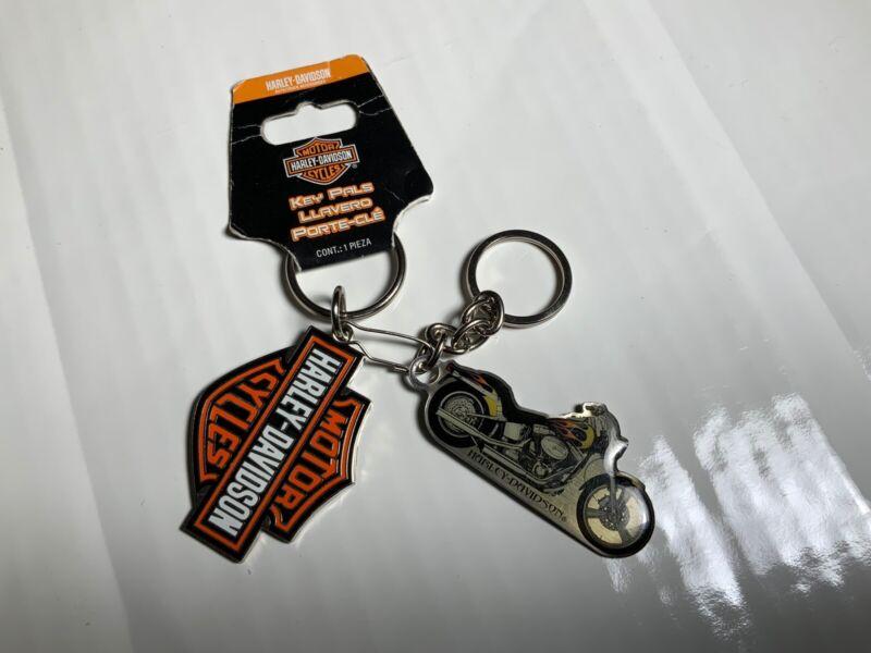 Harley Davidson Metal Bar & Shield Logo Motorcycle Key Chain Key Ring