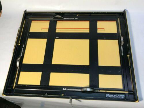 """Saunders LPL 11 x 14"""" 4 Bladed Adjustable Darkroom Enlarging Printing Easel"""