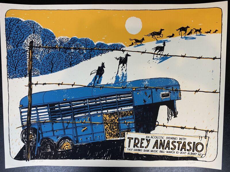 Trey anastasio Poster Print.  3/10/2017.  Troy savings Bank Albany, NY