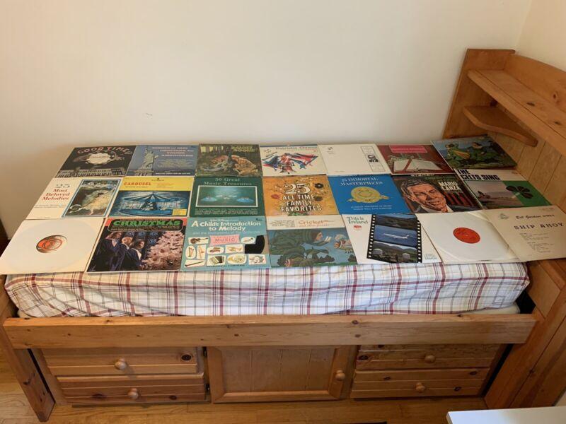 """Lot of 21 Vinyl Records 33 RPM 12"""" Rare Music Non Transcribed Good Condition"""