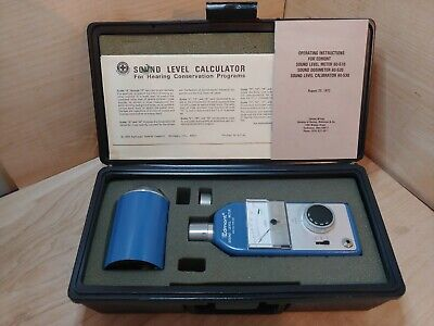 Edmond-wilson Sound Level Meter And Calibration Kit Model No. 60-540