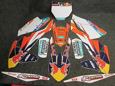 KTM SX/SXF 125-450 2016-2017 Factory Europe Team graphics + plastic kit GR1305