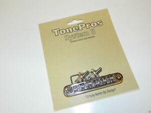 TONEPROS TP6R-C TUNEOMATIC BRIDGE WITH ROLLER SADDLES IN CHROME GIBSON BIGSBY