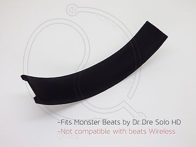 Black Rubber Cushion For Monster Beats Dr Dre Solo HD replacement Top Headband