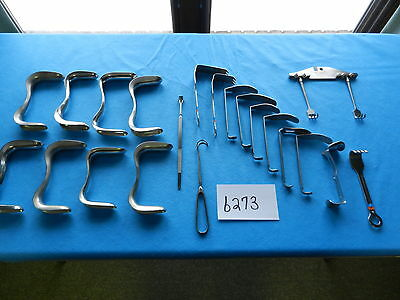 Pilling Codman V. Mueller Storz Surgical Retractors Lot Of 21