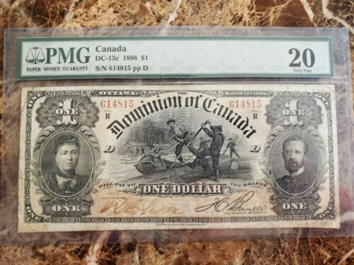 Dominion of Canada 1 Dollar bill DC-13c 1898