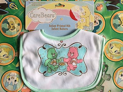 Care Bears Bib Infant Baby Shower Gift Rainbow pink Stars Green Boy Girl plush - Care Bear Baby Shower